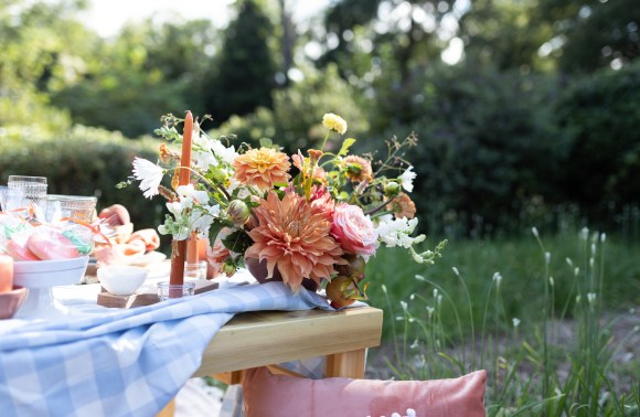 Sweet Peach styled shoot by Elizabeth A Images Charlotte portrait photographer
