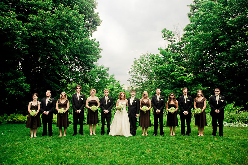 Chocolate Brown And Green Indianapolis Garden Wedding