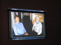 Kath (storyteller) and Garry (interviewer) on film (camera work by Nicole
