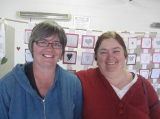 Kylie who was instrumental in getting Heart Art happening, with Angela