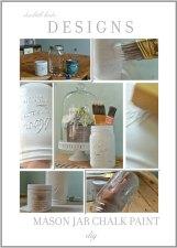 DIY Chalk Paint Mason Jars
