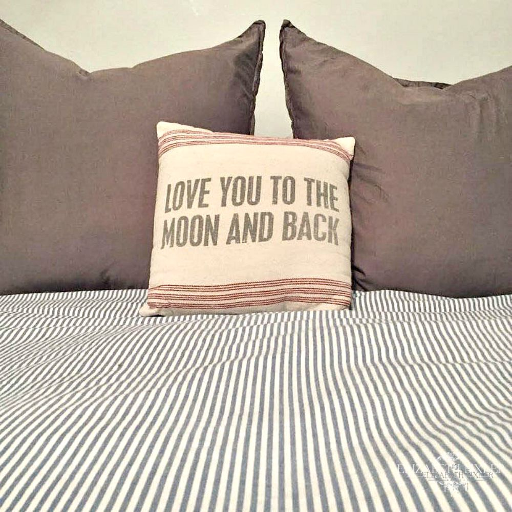 love you to the moon and back pillows