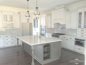 French Country Grey Kitchen