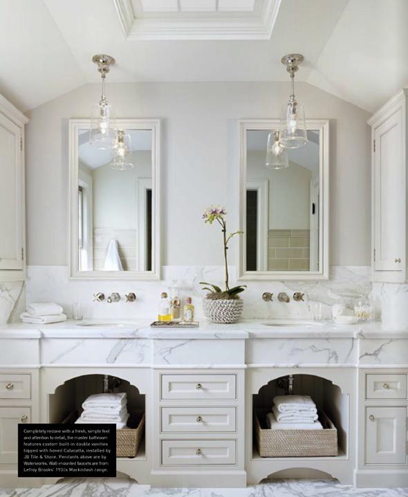 White Classic Bathroom Decor