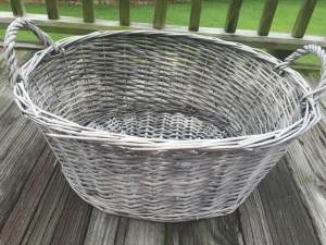 Primitive Americana Decor Chalk Paint Basket