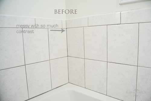 hot to renew tile grout before picture is dirty with too much contrast