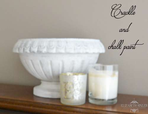 Using Crackle and Chalk Paint to Distress an Urn giving it that aged look with paint