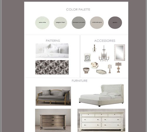 French Country Neutral Bedroom Mood Board