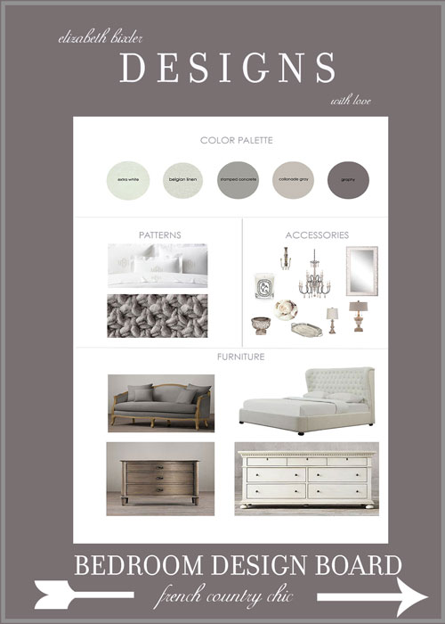 French Country Bedroom Mood Board