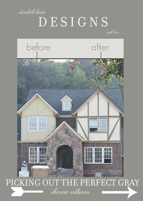 english tudor gray home