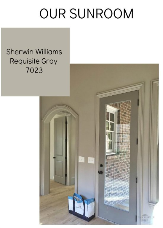 Sunroom Sherwin Williams Requisite Gray