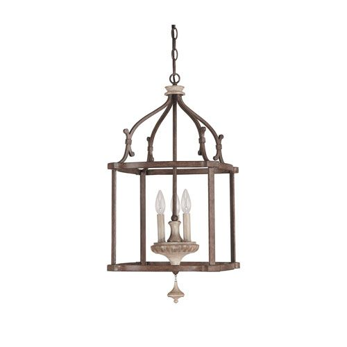 Capital Lighting Fixture Company Chateau Large French Oak Three Light Foyer Bellacor