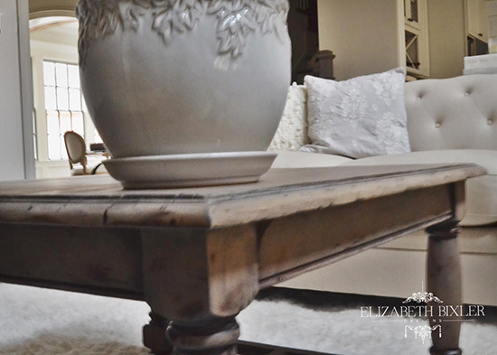 weathered grey coffee table french country planter