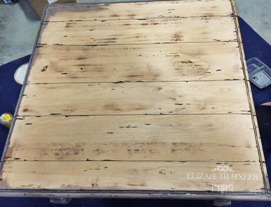 restoration hardware finish coffee table