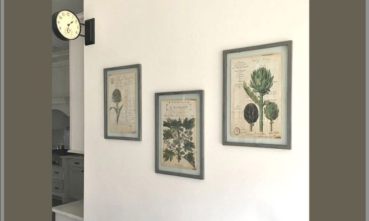 DIY : How to Create a Restoration Hardware Inspired Herb Framed Gallery