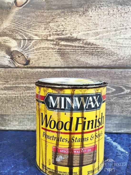 Minwax Special Walnut on Pine