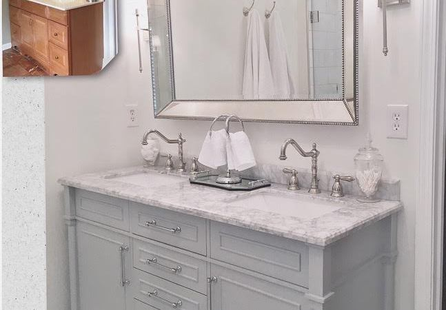 White Master Bathroom Makeover