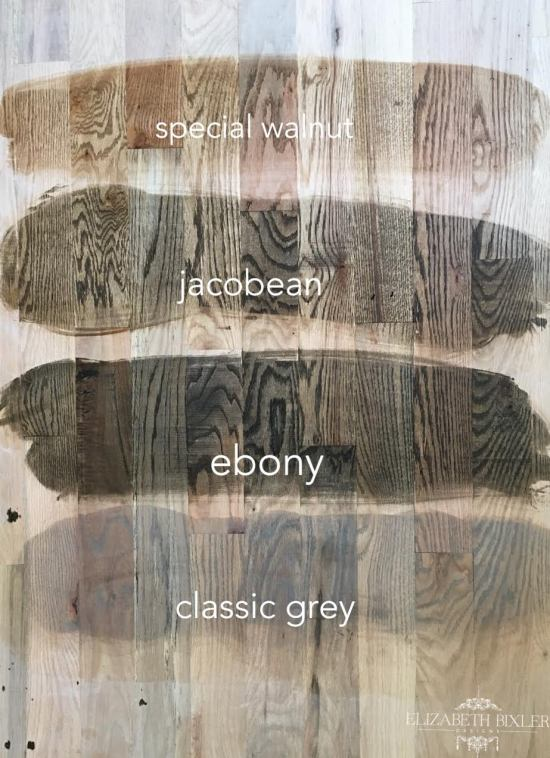 special walnut, jacobean, ebony, classic grey