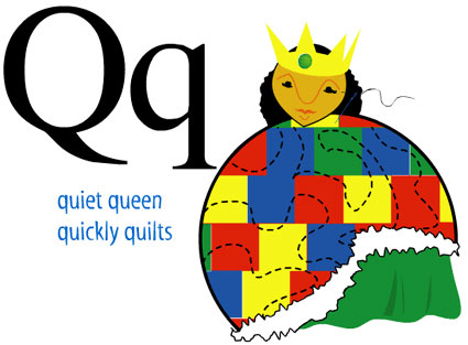 Q: from The Animated Alphabet, InklessTales.com