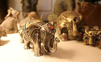 Tiny bejeweled elephants