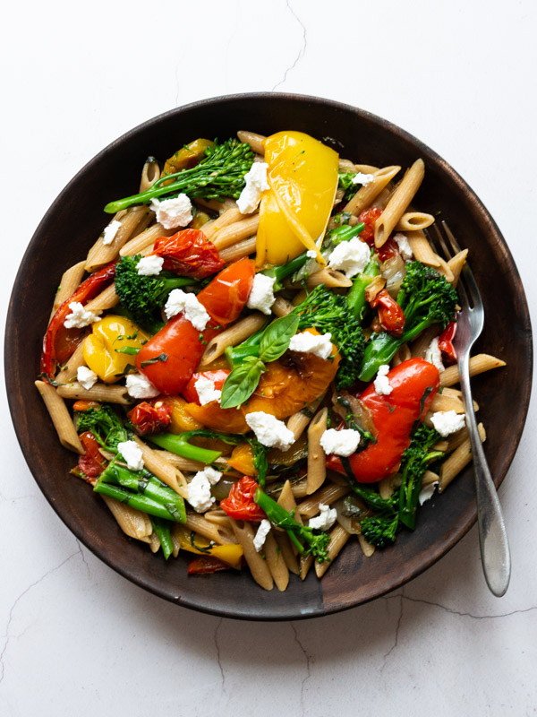 Slow Roast Pepper and Tomato Pasta