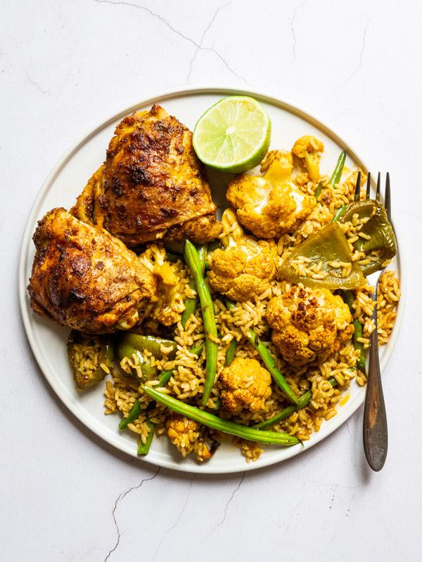 Roast Chicken Tikka Masala with Cauliflower