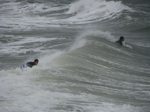 surfers in 65 degree water. We noticed that not a single woman was crazy enough to take that plunge.