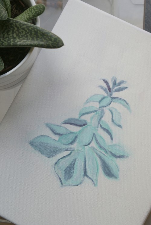 Succulent art at elizabethdanon.co.uk