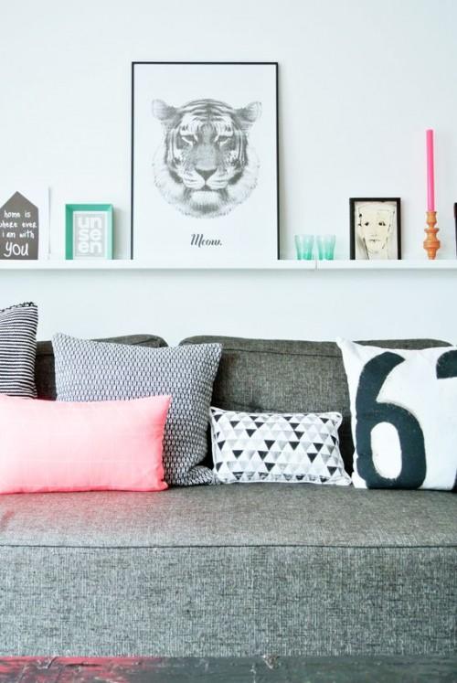 Coloured pillow