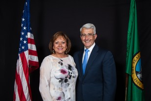 Gov. Susanna Martinez & Bill Bryant, candidate for governor of Washington State,
