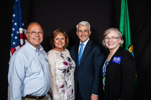 Rep. Dick Muri, Gov. Susanna Martinez, and Rep. Muri's wife, Mary.