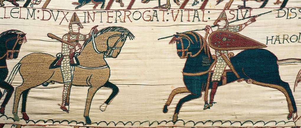 Detail of Bayeux Tapestry found on www.english-heritage.org.au © DeAgostini/Getty Images