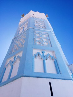 beautiful mosque tower