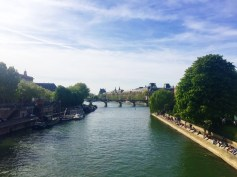 Looking across the Seine