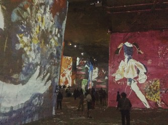 Inside the Carrieres des Lumieres!