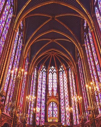 Stunning stained glass at Sainte Chapelle