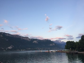 Sunset in Annecy