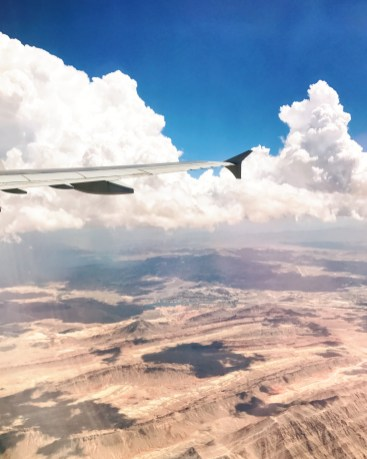 View of the Grand Canyon from my flight into Vegas