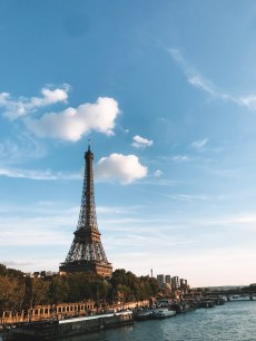 View of the Eiffel Tower on the Seine