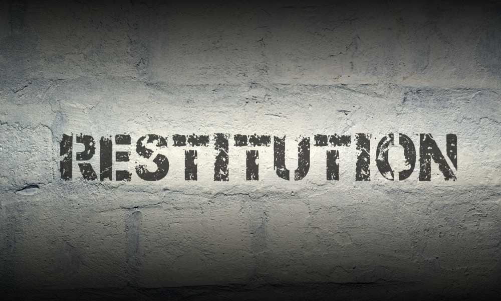 what happens if I don't pay restitution in federal court