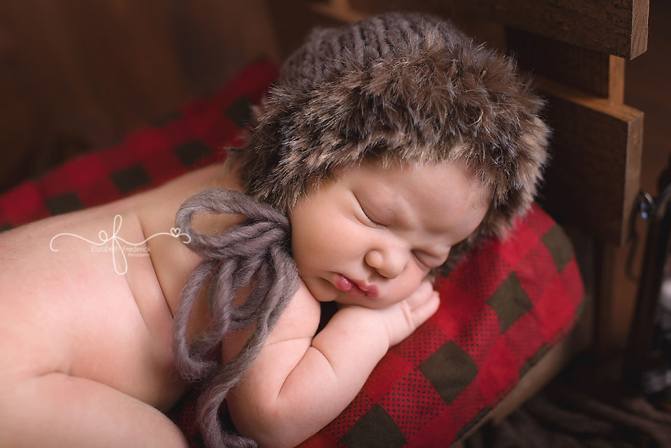 Newborn on Bed   Outdoor newborn   Camping newborn   rustic newborn   CT Newborn Photographer Elizabeth Frederick Photography