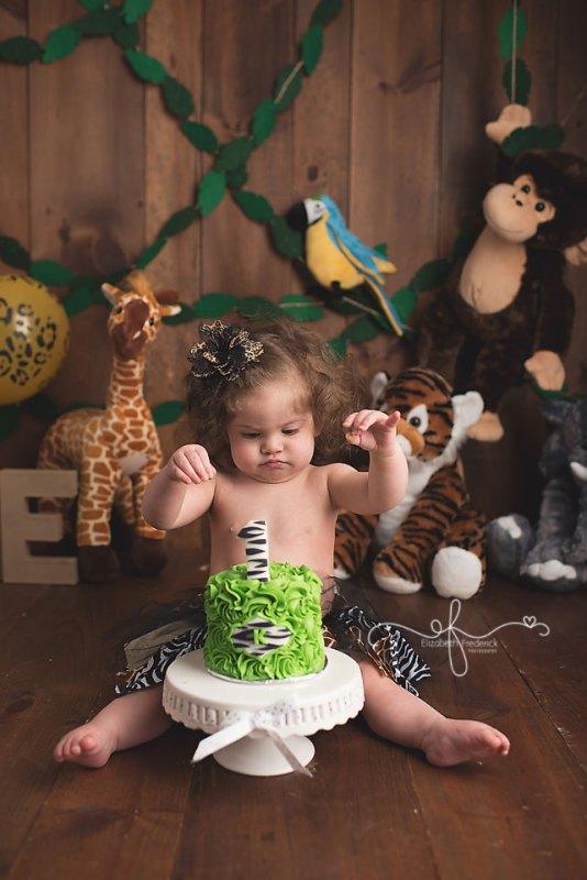 Kennedy Jungle Smash Cake Ct Smash Cake Photographer