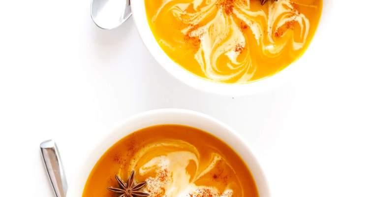 Slow Cooker Creamy Butternut Squash Soup