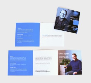 HR Booklet spread, blue