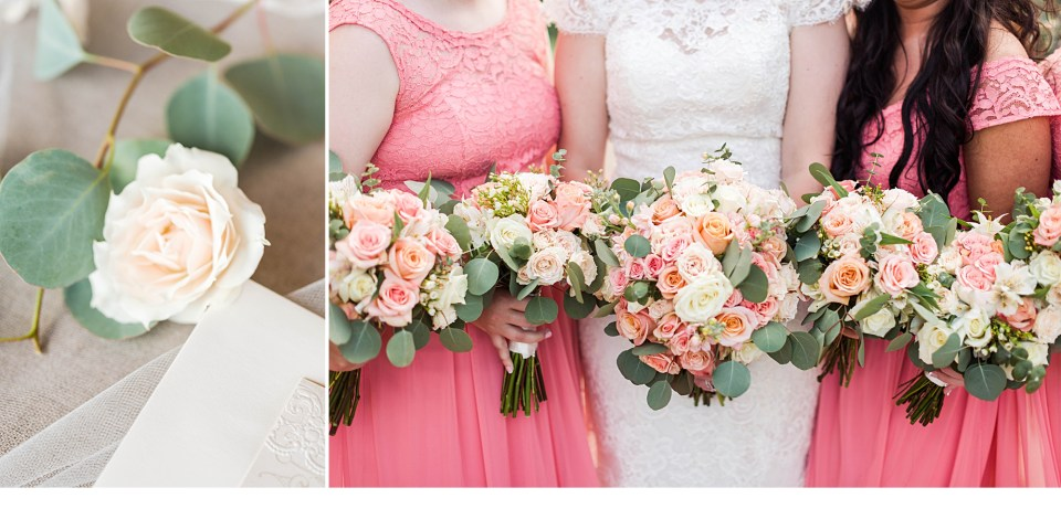 Coral and White Weddings, Southern Pink Weddings, Blush Pink Wedding florals