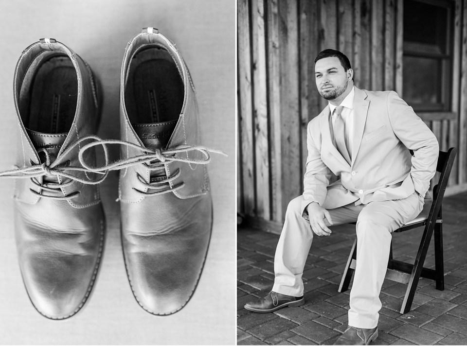 Groom Details, Black and White Wedding Photos