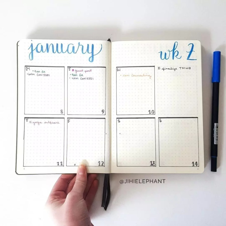 January Plan with Me | My First Bullet Journal Layout of 2018