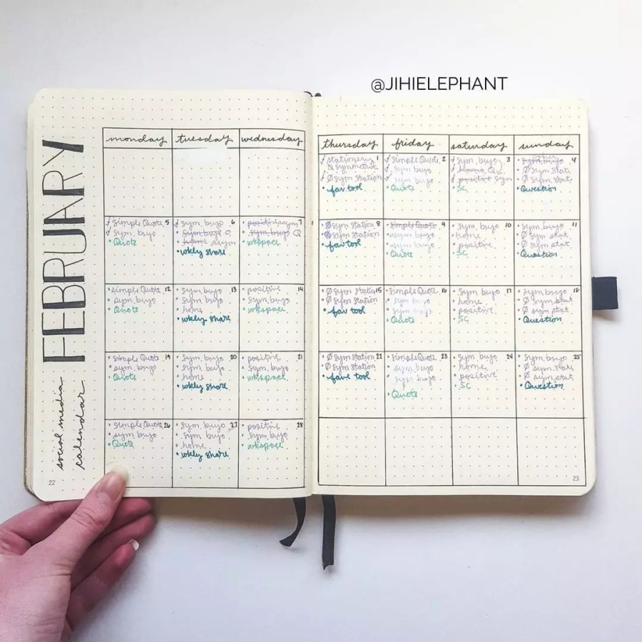 2018 Jihi Elephant Blogging and Business Bullet Journal/Planner | Plan with Me