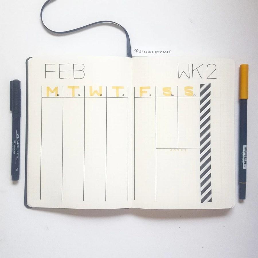 yellow february week