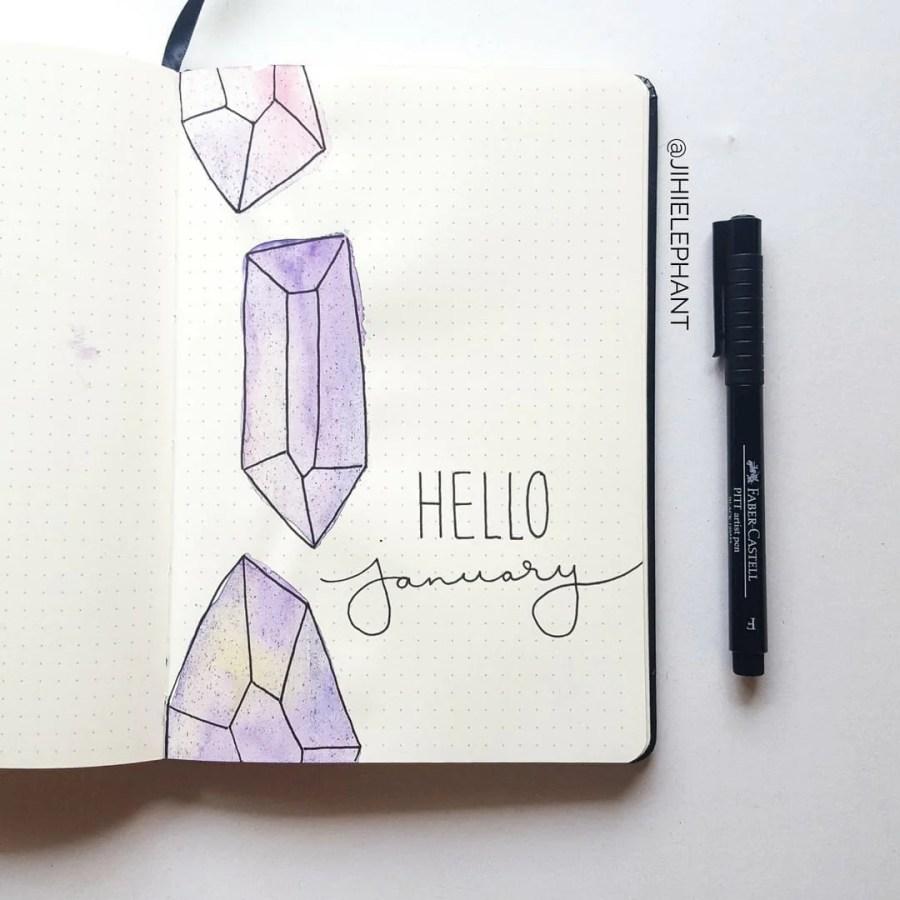 purple january crystal title Sam